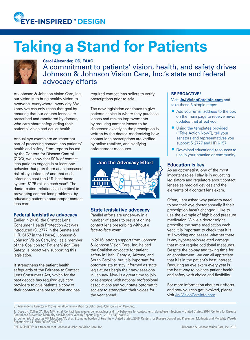 Optometric Management - Taking a Stand for Patients